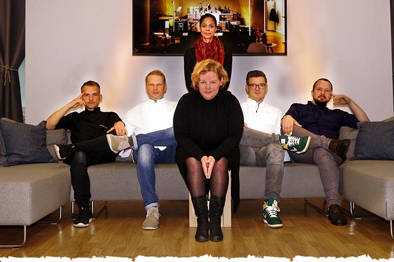 C. Hauser, M. Gleiß, A. North (hinten), K. Grünebaum, A. Anker, M. Schulz (v.li.)