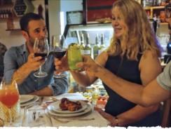 Traditionelles jüdisches Dinner, strictly non kosher