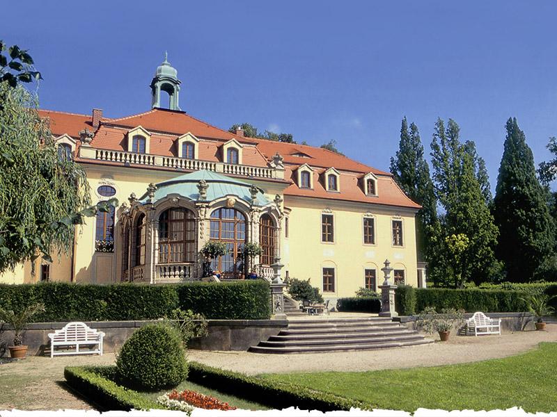 Schloss Proschwitz Gartenansicht
